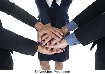 business hand success concept, on White Background