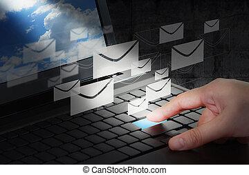 hand working business - Business hand working business