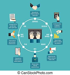 Business Hands Infographics