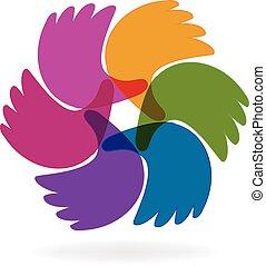 Business hands logo