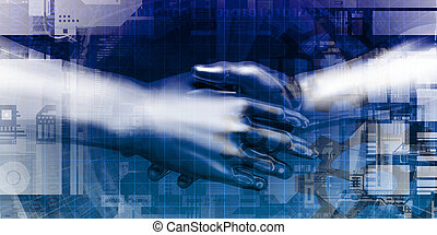 Business Handshake Abstract Background for Trust as Concept