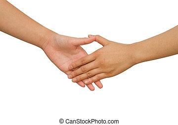 Business handshake between business people