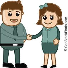 Business Handshake - Cartoons