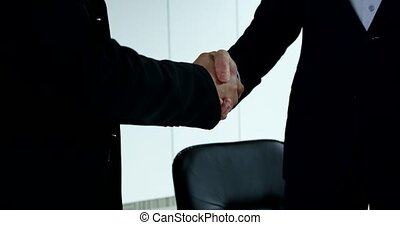 Business handshake close up