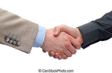 Business handshake - Close up of a business handshake on...
