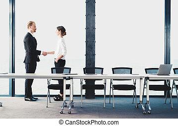 Business handshake. Concept of teamwork and partnership