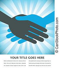 Business handshake design.