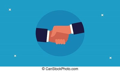 business handshake done deal successful animation ,4k video animated