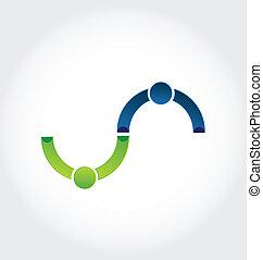 Business handshake friendship logo