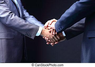 Business handshake. Great business deal.  teamwork concepts