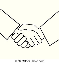Business handshake. Icon on white background