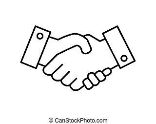 Business Handshake illustration isolated on white background.