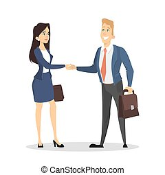 Business handshake illustration.