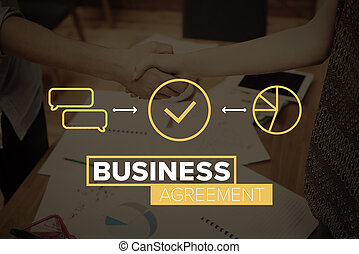 Business handshake in the office