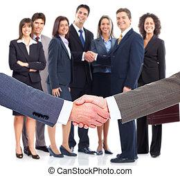 Business handshake. Professional group meeting.