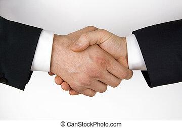 Business handshake. Image of businesspeople handshake on the...