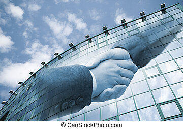 business handshake - special toned, made from my photos and...