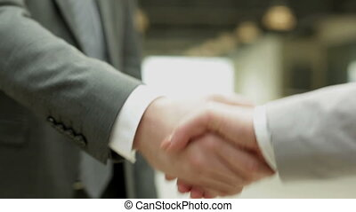 Business handshake - Handshake of business partners