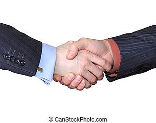 Business handshake. - Friendly handshake of two businessmen.