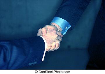 Business handshake - Business men shaking hands
