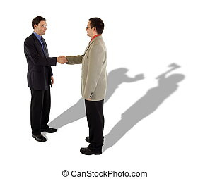 Business handshake and the real truth behind