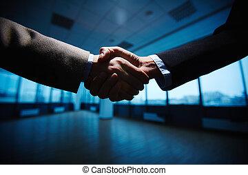 Business handshake - Handshake of business partners