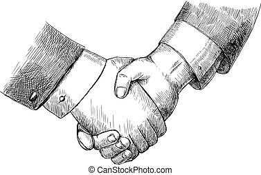 Business handshake successful partnership agreement deal...