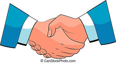 Business handshake. Vector over white. EPS 8, AI, JPEG