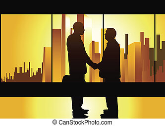 business handshake - well-known business concept, partners...