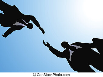 business handshake - well-known business concept (vector ...