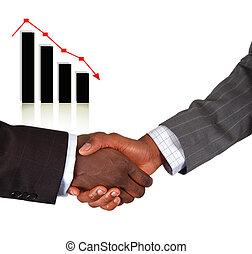 Business handshake with f