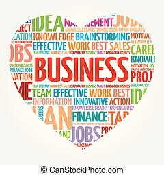 BUSINESS heart word cloud collage