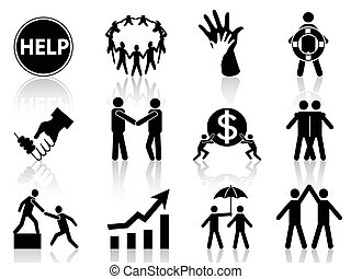 business help icons - the concept of business help icons