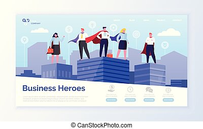Business Heroes Web Page, Entrepreneurs in Coats