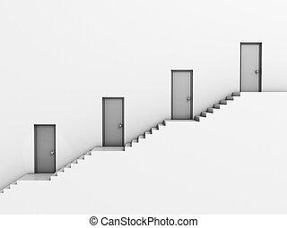 business hierarchy 3d concept
