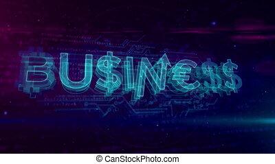 Business hologram loop concept - Business hologram concept...