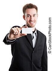 business, homme affaires, caucasien, carte