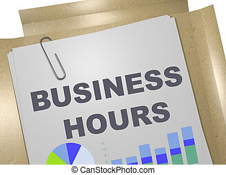 BUSINESS HOURS concept