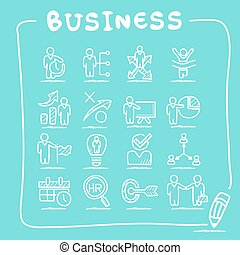 Business human resources icon set