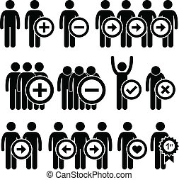 Business Human Resources Pictogram - A set of pictograms...