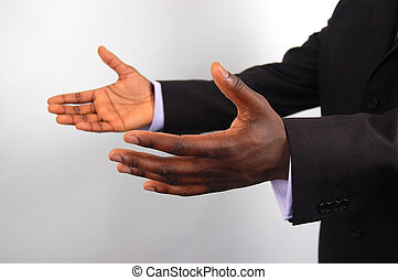 Business-I am here2 - This is an image of a pair of hands...