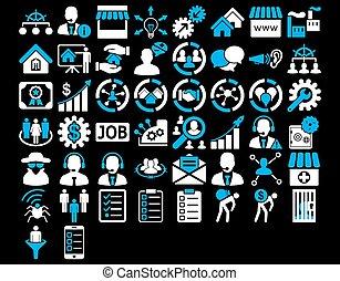 business, icône, ensemble
