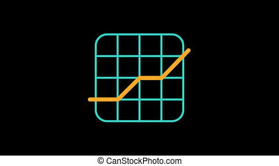 Business icon chart. Animation icons. Transparent background. Loop animation. Motion graphics