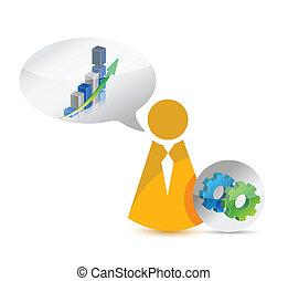 business icon concept illustration design