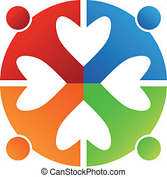 Business icon design. Heart 4 logo