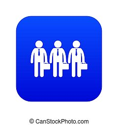 Business icon digital blue