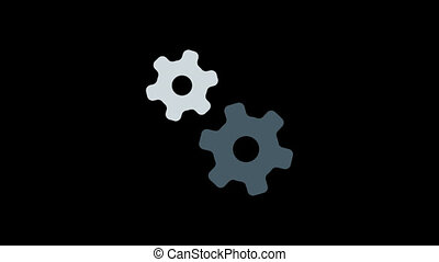 Business icon gears. Animation icons. Transparent background. Loop animation. Motion graphics