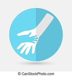 Business icon. Handshake on a white background