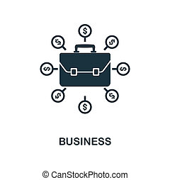 Business icon. Monochrome style design from business icon collection. UI. Pixel perfect simple pictogram business icon. Web design, apps, software, print usage.
