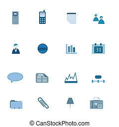 Business Icon Set in Blue